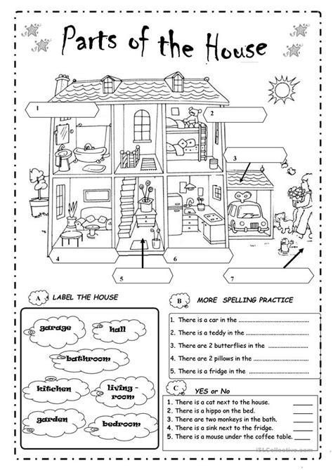 Parts In Worksheet by Parts Of The House Worksheet Free Esl Printable