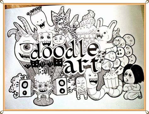 doodle drawing artist kumpulan gambar doodle keren dan lucu terbaru