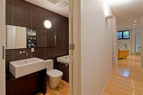 Modern Bathroom Brown Tiles Modern Tile Flooring Dining Room Midcentury With Bowling