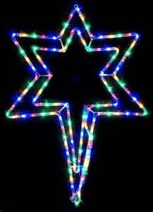 Veranda Chandelier Nativity Star Multicolour Led Flashing Ropelight Outdoor