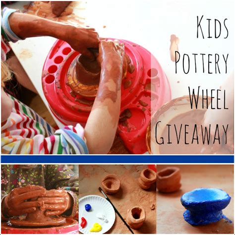 Giveaway Ideas For Kids - a kids pottery wheel and air drying regular clay