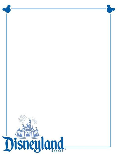 Disney Business Card Template by Disneyland Clip Clipartion