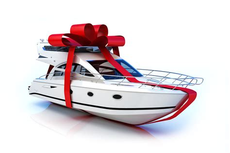boat gifts who would run away from a big charitable gift you should