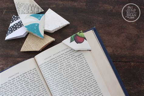 Cool Origami Bookmarks - easy diy origami bookmarks crafty