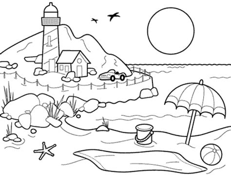 beach coloring pages preschool hot summer beach coloring pages printable for preschoolers