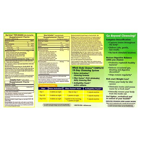Heal Your Whole Detox Plan by Whole Cleanse W Probiotics 1kit Health Store