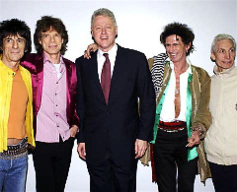 Bill Clinton And Clinton At The Rolling Stones In Concert At The Beacon Theatre by Molloy Hil Bill Roll For The Stones Ny