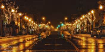 streets with lights downtown oakville lights ian c