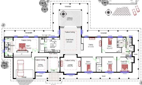 farmhouse floor plans australia acreage house design homestead colonial large 4 bedroom