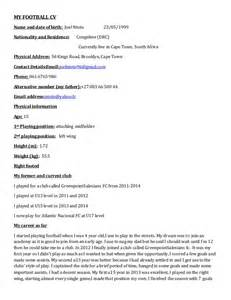 Football Cv Templates Free by My Football Cv