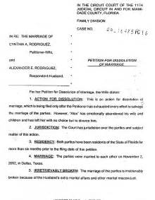 5 fake divorce papers divorce document
