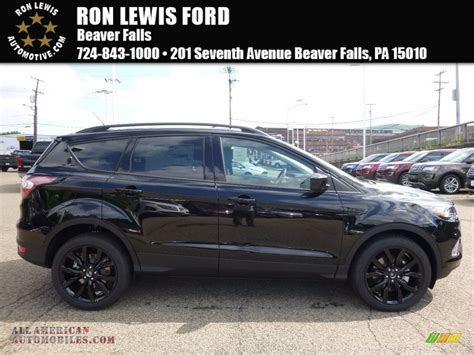 ford escape 2017 black 2017 ford escape se 4wd in shadow black a68033 all