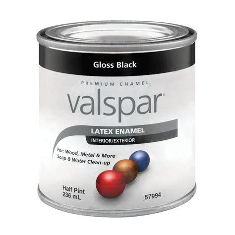 lowes paint shop valspar gloss black gloss latex enamel interior