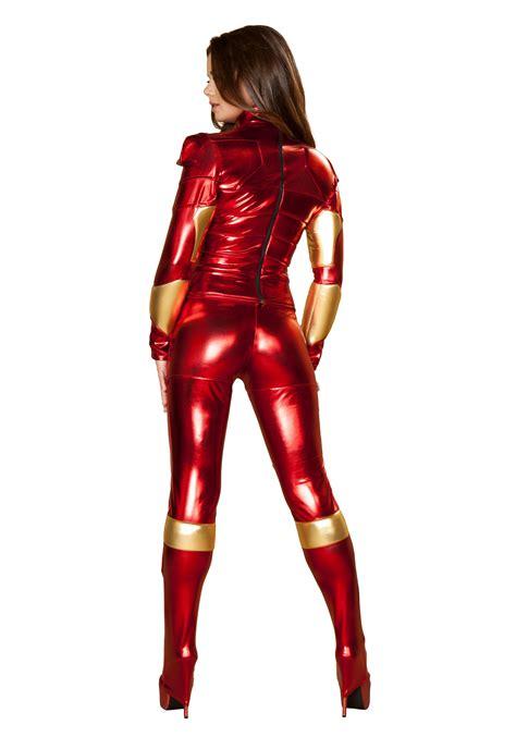 womens hot metal superhero costume