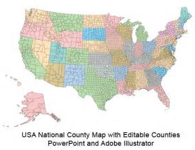 united states county map usa county world globe editable powerpoint maps for