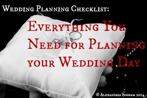 Wedding Checklist Everything You Need by Your Wedding Planning Checklist Everything You Need To