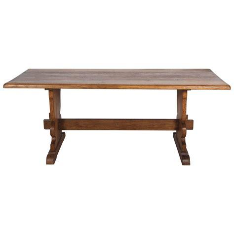 Farmhouse Trestle Table by Vintage Rectangular Wood Trestle Farmhouse Table At 1stdibs