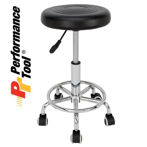 rolling bar stools performance tool chrome plated pneumatic rolling bar stool