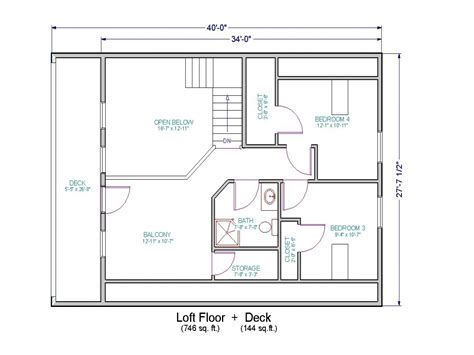 Loft Home Floor Plans | simple small house floor plans small house floor plans