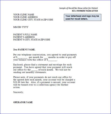 appointment recall letter template missed appointment follow letter sle best free