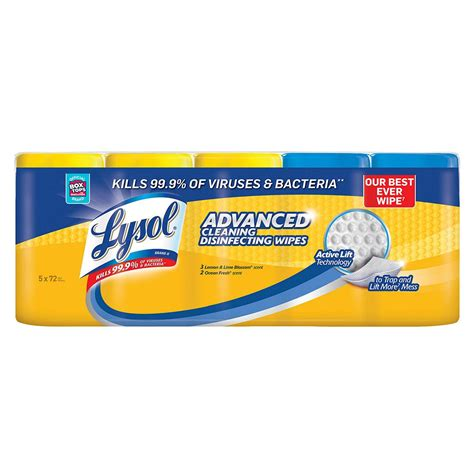 lysol advanced cleaning disinfecting wipes variety pack bjs wholesale club