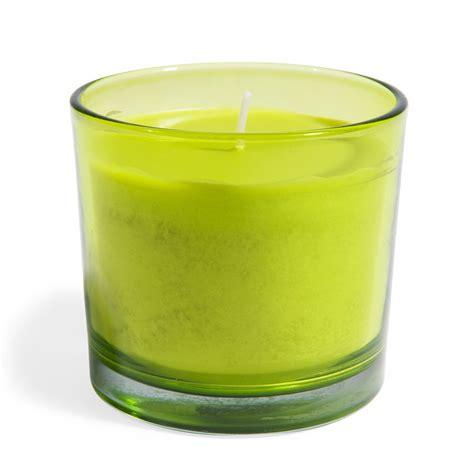 candela verde candela verde in vetro h 8 cm maisons du monde