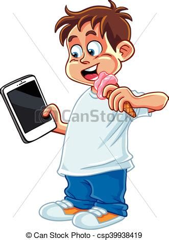 imagenes de niños jugando tablet kid playing tablet phone vector cartoon vector clip art