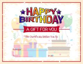 birthday gift certificate template free free birthday gift certificate template formal word