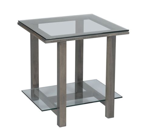 glass top accent tables hilton 292 glass top end table ohio hardwood furniture