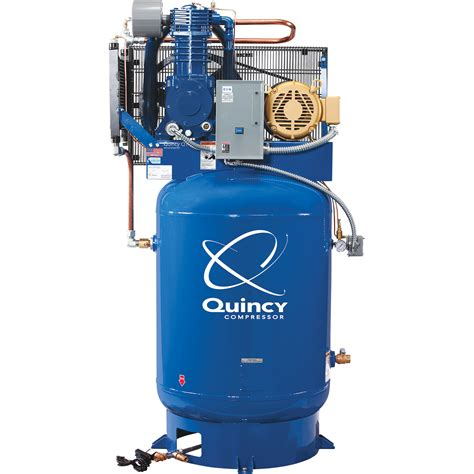 free shipping quincy qt 10 splash lubricated reciprocating air compressor 10 hp 208 230 460