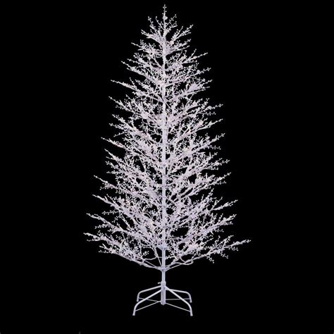 7ft tree with lights ge 7 ft white winterberry branch tree with led lights