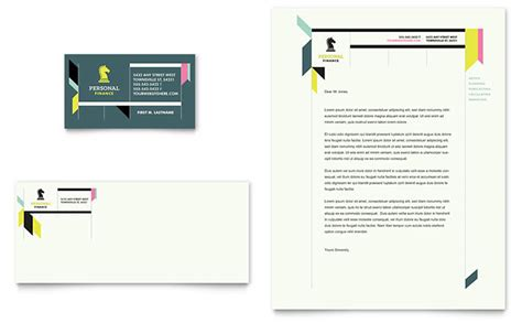 business letterhead templates indesign personal finance business card letterhead template design