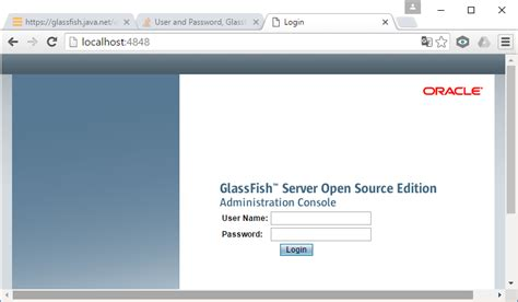 glassfish admin console netbeans user and password glassfish admin console
