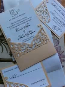 lasercut wedding invitation sleeve pocket swirl