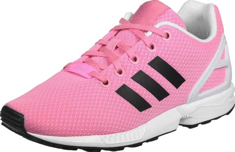 adidas zx flux k w shoes pink black white