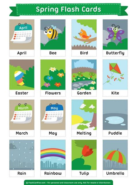 Vocabulary Flash Cards Printable