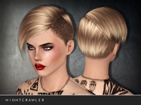 undercut hairstyle   stop  nightcrawler sims