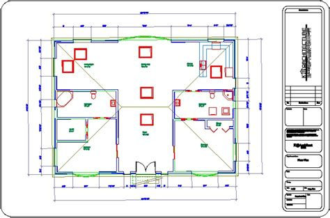 floor plan title block k technoligical design envisioner house title block
