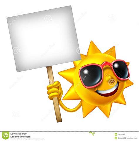 funny hot sun pictures sun fun mascot sign stock illustration illustration of