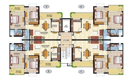 2 Bhk Flat Plan | floor plan omaxe city ajmer road jaipur residential