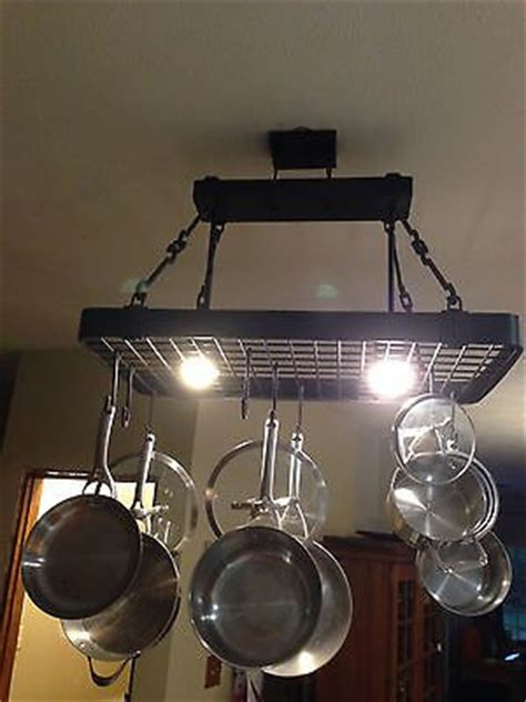 Ceiling Pot Rack With Lights 17 Best Images About Pot Hanger Island Light On