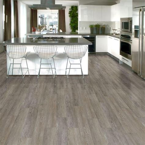 home depot kitchen flooring trafficmaster brushed oak taupe resilient vinyl plank flooring 4 in x 4 in take home