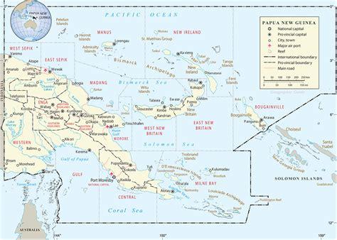 papua new guinea map island new guinea