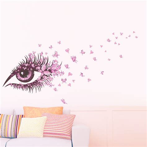 eye wall stickers charming eye wall sticker for rooms flower