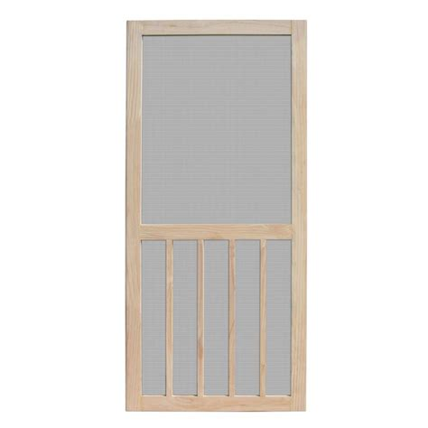 Screen Doors Home Depot Exterior Door Unique Home Designs 30 In X 80 In Aspen Unfinished Pine Outswing Wood Hinged Screen Door