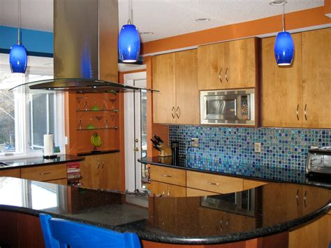 blue glass kitchen backsplash colorful kitchen designs kitchen ideas design with cabinets islands backsplashes hgtv
