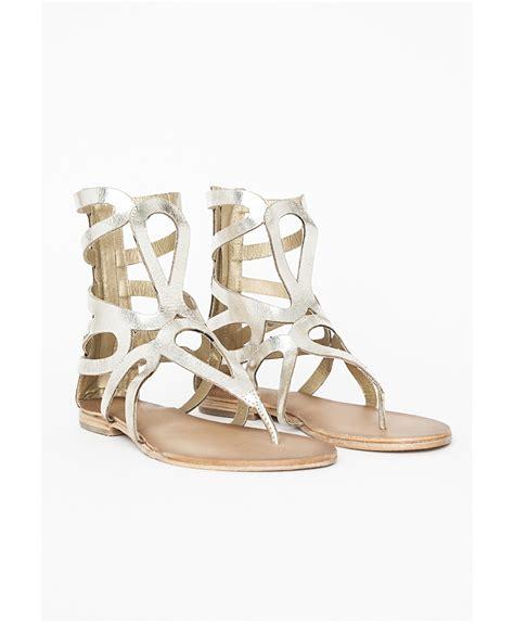 gladiator sandals gold missguided pamella gold gladiator sandals in gold lyst