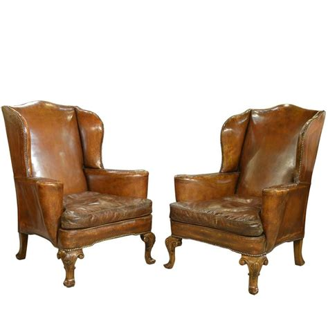 wingback armchairs for sale pair of 19th century leather wingback armchairs for sale