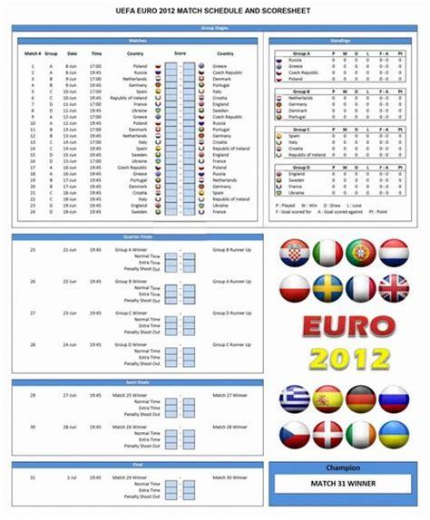 otro calendario fixture  la euro  en excel
