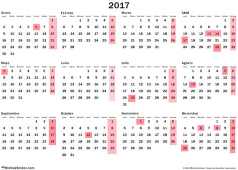 Calendario 2017 Y Festivos As 237 Ser 225 El Calendario Laboral De 2017